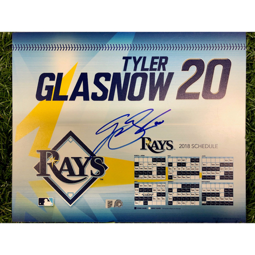 Photo of Rays Baseball Foundation: Game Used Autographed Locker Tag: Tyler Glasnow - September 27, 2018 v NYY