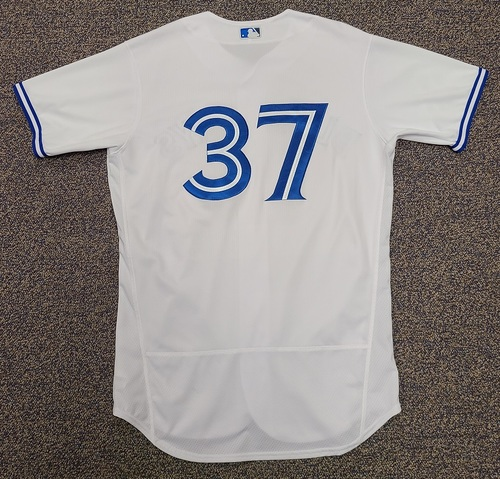 Photo of Authenticated Team Issued 2020 Summer Training Camp Jersey: #37 Teoscar Hernandez. Size 44.