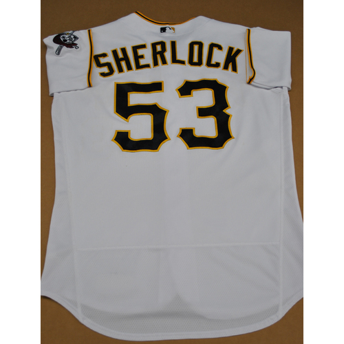 Photo of Game-Used 2020 Home Jersey - MIL at PIT - 7/27/2020 - Glenn Sherlock - Size 46