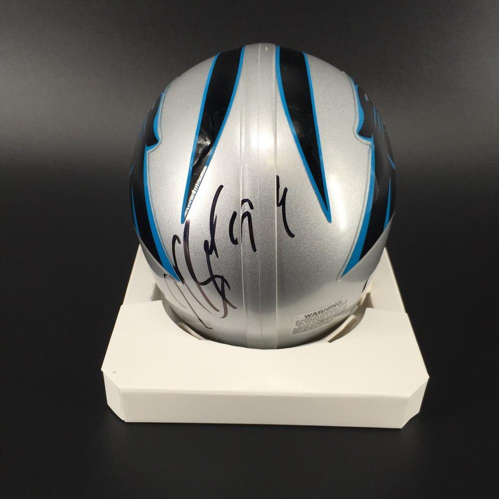 NFL - Panthers Kawann Short Signed Mini Helmet