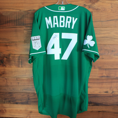 Photo of Autographed 2020 St. Patrick's Day Jersey: John Mabry #47 - Size 50