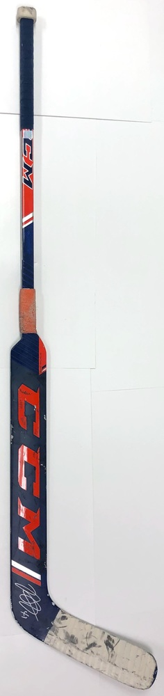 #41 Mike Smith Game Used Stick - Autographed - Edmonton Oilers