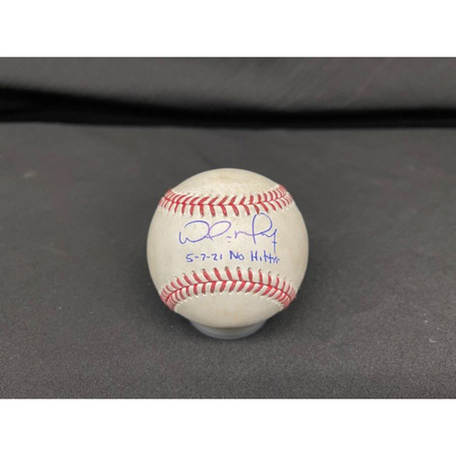Photo of Wade Miley No-Hitter - *Autographed Game-Used Baseball* - Bot 2 - Wade Miley to Franmil Reyes (Foul) - Inscribed as 5-7-21 No Hitter