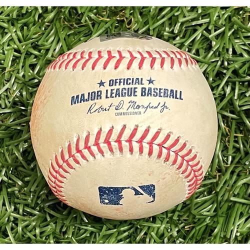 Photo of Game Used Baseball: Cavan Biggio single off Ryan Yarbrough - Top 2 - April 24, 2021 v TOR