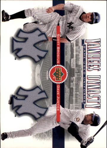 Photo of 2002 Upper Deck Yankee Dynasty Memorabilia #YJBJ Scott Brosius Jsy/David Justice Home Jersey