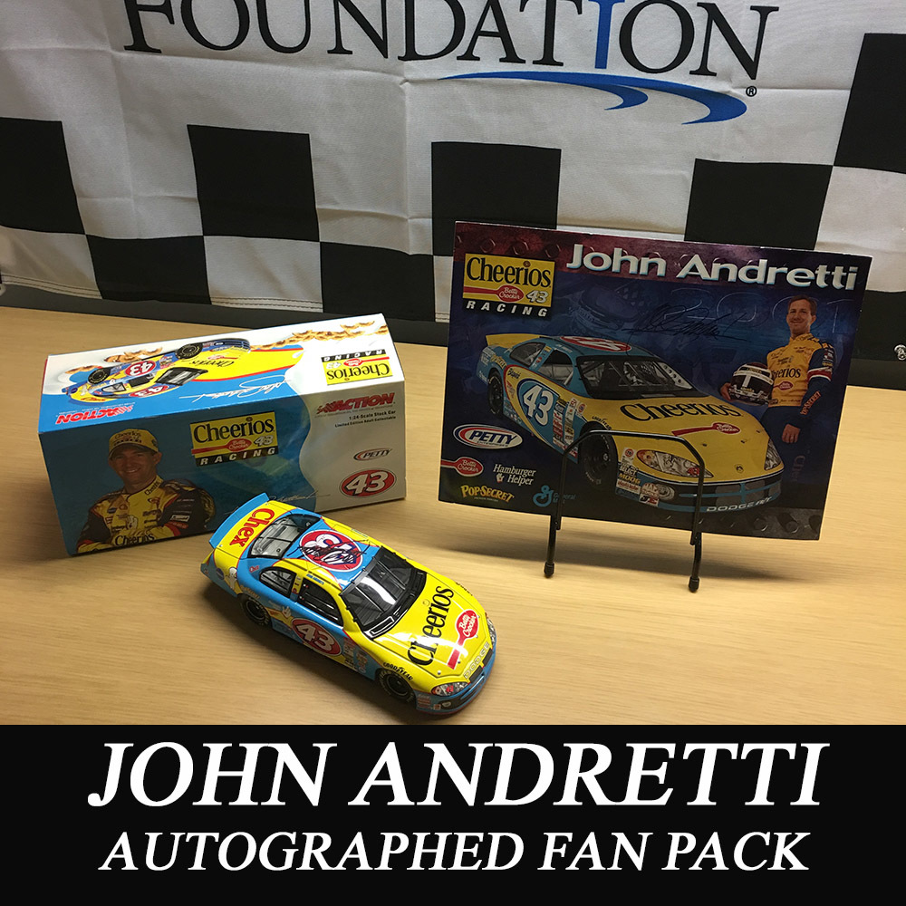 NASCAR's John Andretti autographed fan pack!