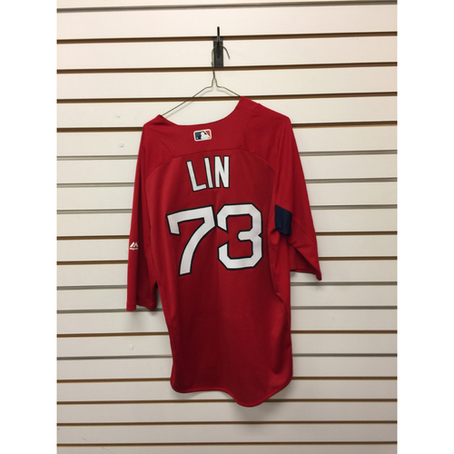Photo of Tzu Wei Lin Team-Issued 2017 Home Batting Practice Jersey