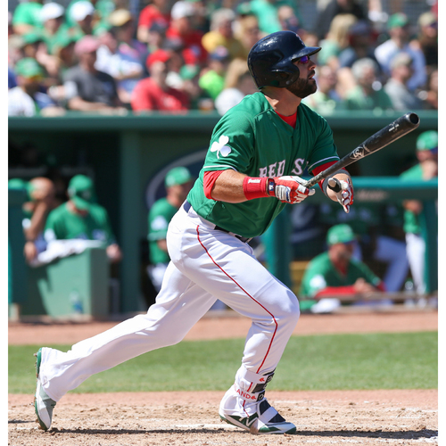 c07a8bfb33b St. Patrick s Day Jersey Auction - Mitch Moreland Game-Used   Autographed  Jersey
