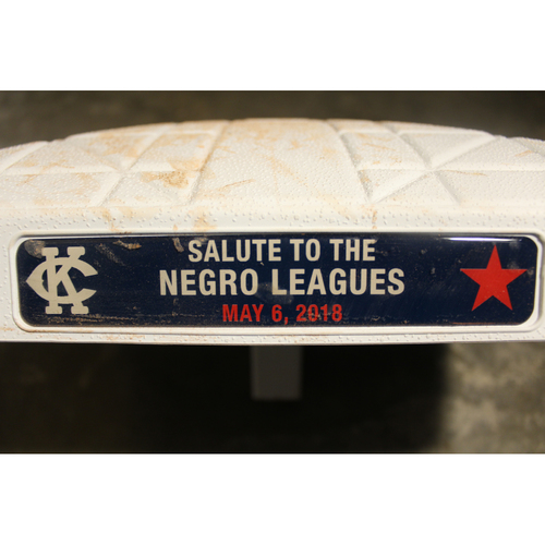 Photo of Game-Used 2nd Base: Innings 6-9 (DET at KC - 5/6/18)