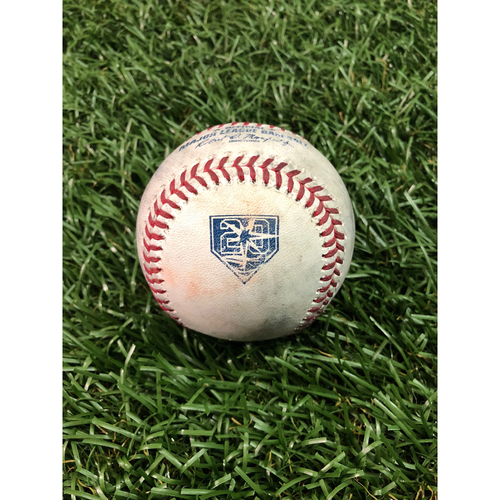 Photo of 20th Anniversary Game Used Baseball: Brett Gardner single and Aaron Judge single off Yonny Chirinos - July 24, 2018 v NYY