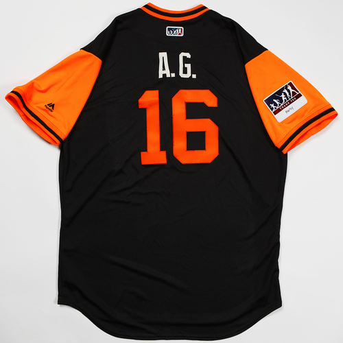 "Photo of Aramis ""A.G."" Garcia San Francisco Giants Game-Used 2018 Players' Weekend Jersey"