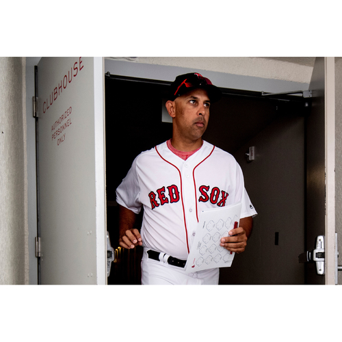 Photo of Red Sox Foundation Game Day - Alex Cora Team-Issued or Game-Used and Autographed Jersey (Pre-Game Sale)