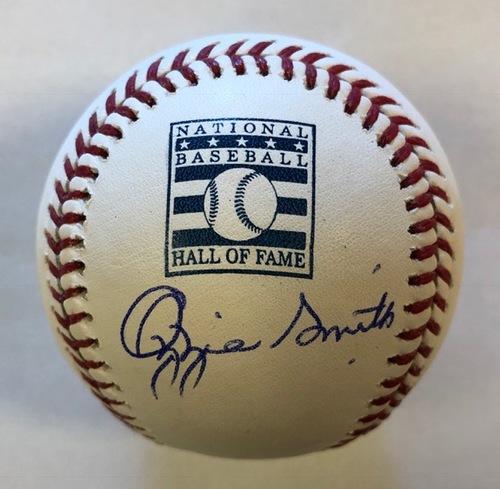 Ozzie Smith Autographed HOF Logo Baseball