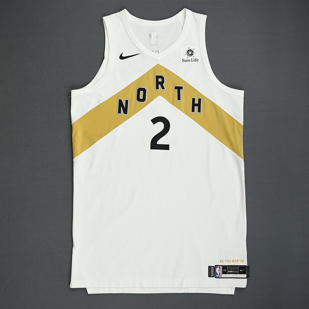 Kawhi Leonard - Toronto Raptors - 2018-19 Season - Worn 5 Games - Recorded a Double-Double - Three 30+ Point Games - White City Edition Jersey
