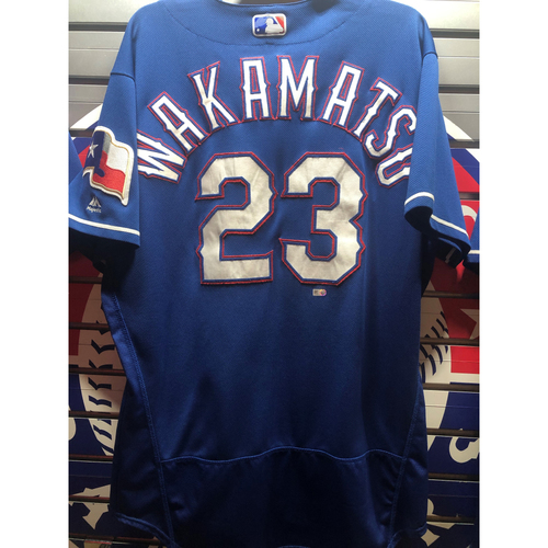 Photo of Don Wakamatsu Blue Team-Issued Spring Training Jersey