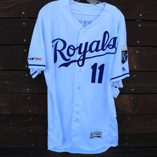 Photo of Game-Used Jersey: Bubba Starling 1st Hit By Pitch (Size 48 - OAK @ KC - 8/28/19)