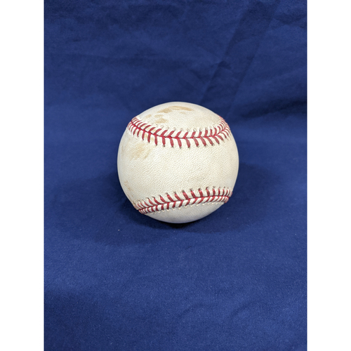 Los Angeles Dodgers Game-Used Baseball: Pitcher: Pedro Baez, Batters: Fernando Tatis Jr. (Strikeout), Wil Myers (RBI Single) - Top 7 - 8/2/19, vs. SD