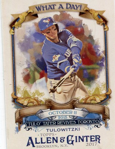 Photo of 2017 Topps Allen and Ginter What a Day #WAD70 Troy Tulowitzki