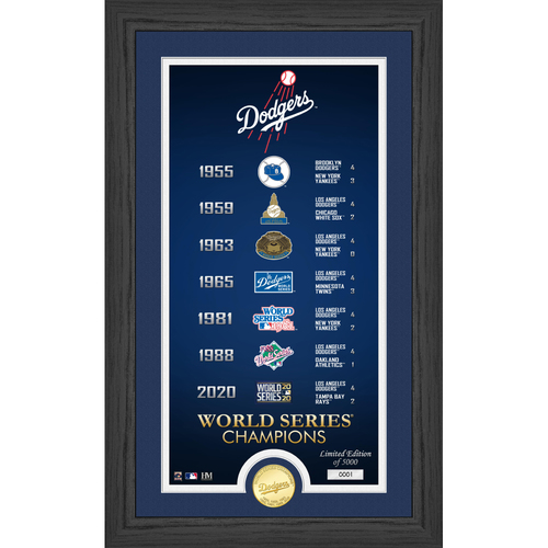 """Photo of Series #1! Los Angeles Dodgers """"Legacy"""" Supreme Bronze Coin Photo Mint"""