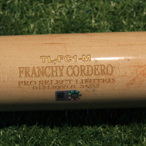 Game-Used Broken Bat: Maikel Franco #7 (CLE @ KC 8/31/20)