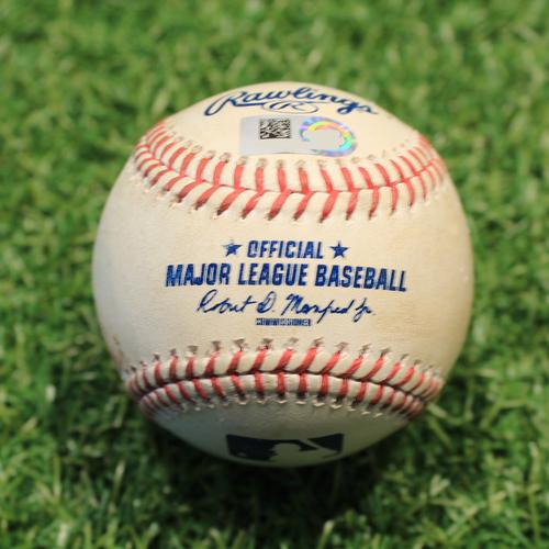 Photo of Game-Used Baseball: Leury Garcia 12th Career Triple & 138th Career RBI (CWS@KC 5/8/21)