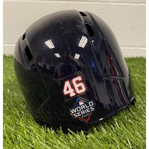 Photo of Patrick Corbin Helmet with World Series Decal