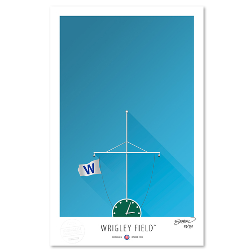 Photo of Wrigley Field - Collector's Edition Minimalist Art Print by S. Preston Limited Edition /350  - Chicago Cubs