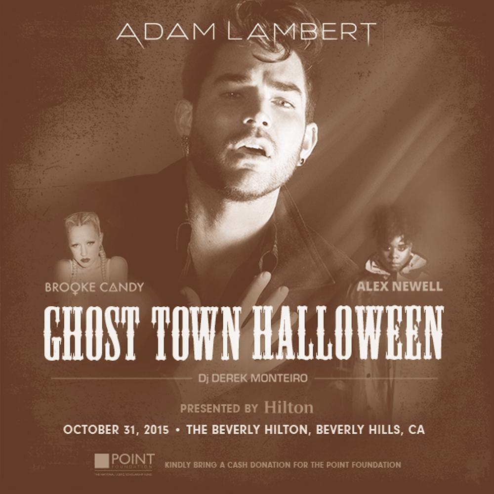 adam lambert s ghost town halloween beverly hills ca october 31 2015 hilton honors experiences hilton honors experiences