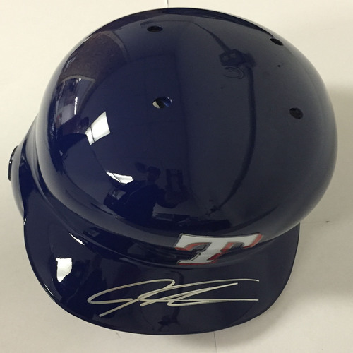 Photo of Josh Hamilton Autographed Rangers Batting Helmet
