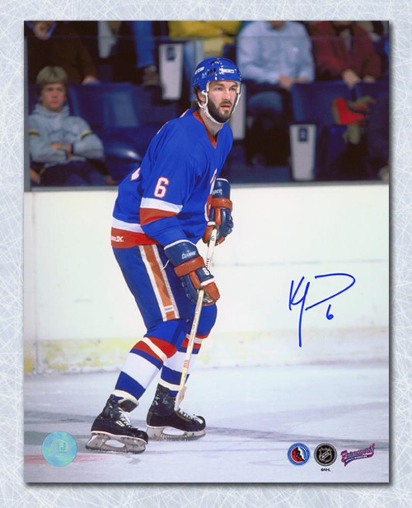 Ken Morrow New York Islanders Autographed Action 8x10 Photo