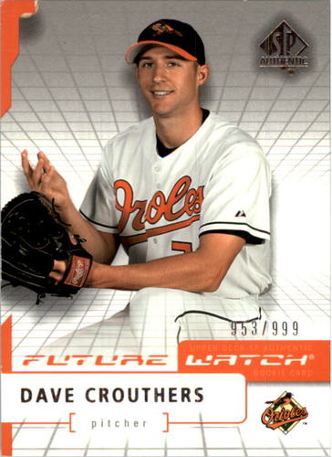 Photo of 2004 SP Authentic #96 Dave Crouthers FW RC