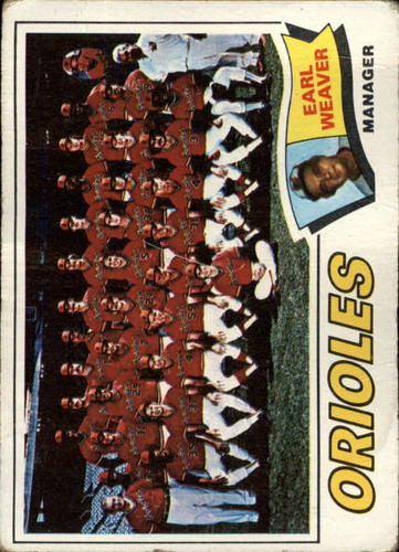 Photo of 1977 Topps #546 Baltimore Orioles CL/Earl Weaver MG