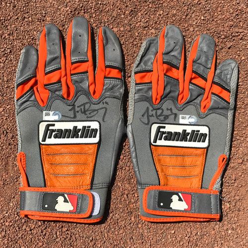 Photo of San Francisco Giants - Autographed Batting Gloves - Trevor Brown (pair)