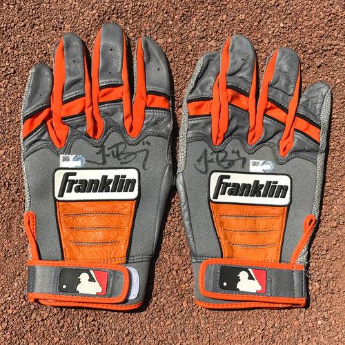San Francisco Giants - Autographed Batting Gloves - Trevor Brown (pair)