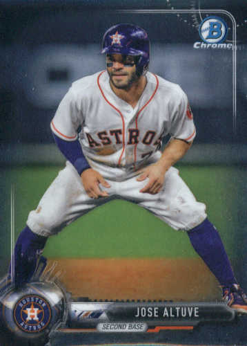 Photo of 2017 Bowman Chrome #87 Jose Altuve -- Astros post-season