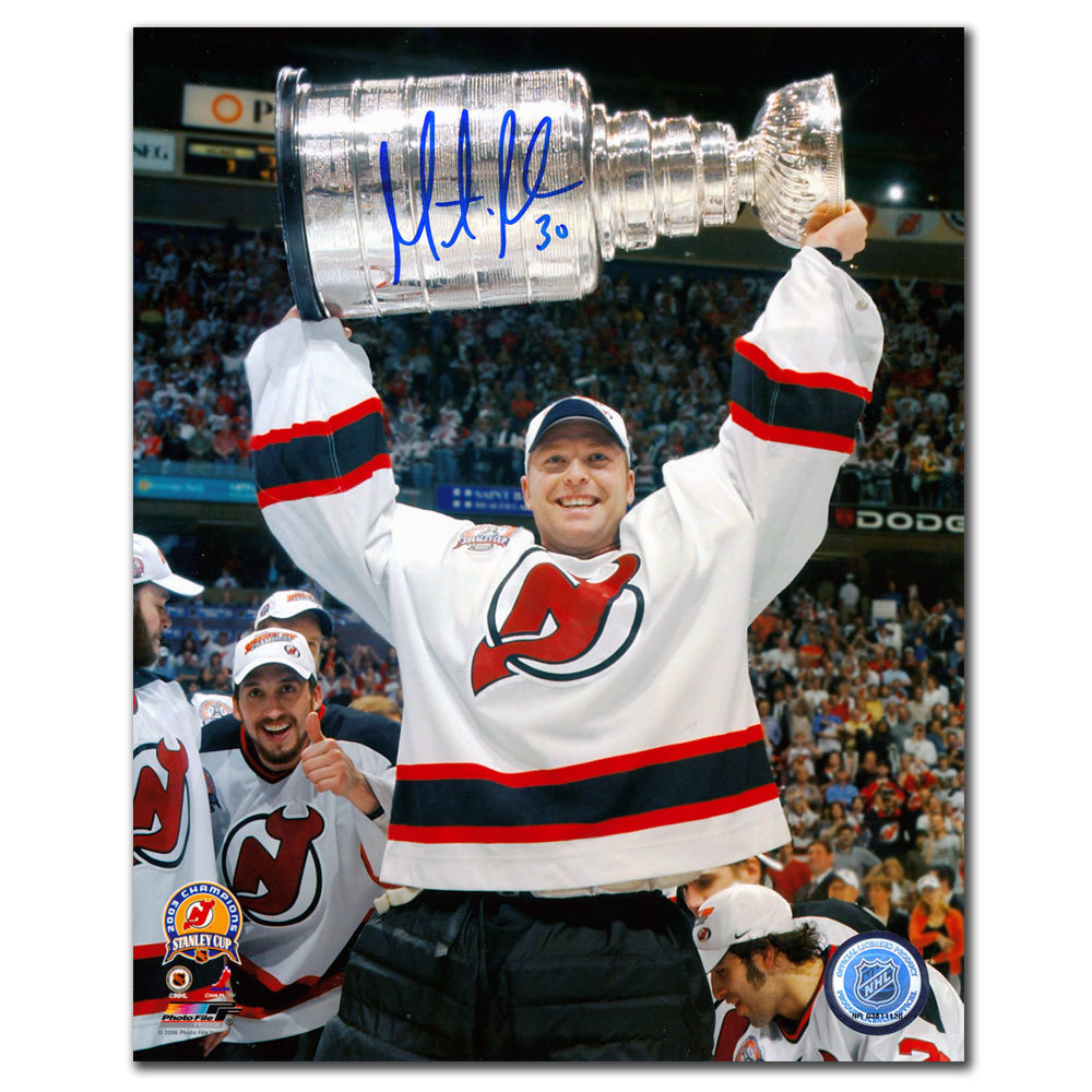 Martin Brodeur New Jersey Devils 2003 Stanley Cup Autographed 8x10