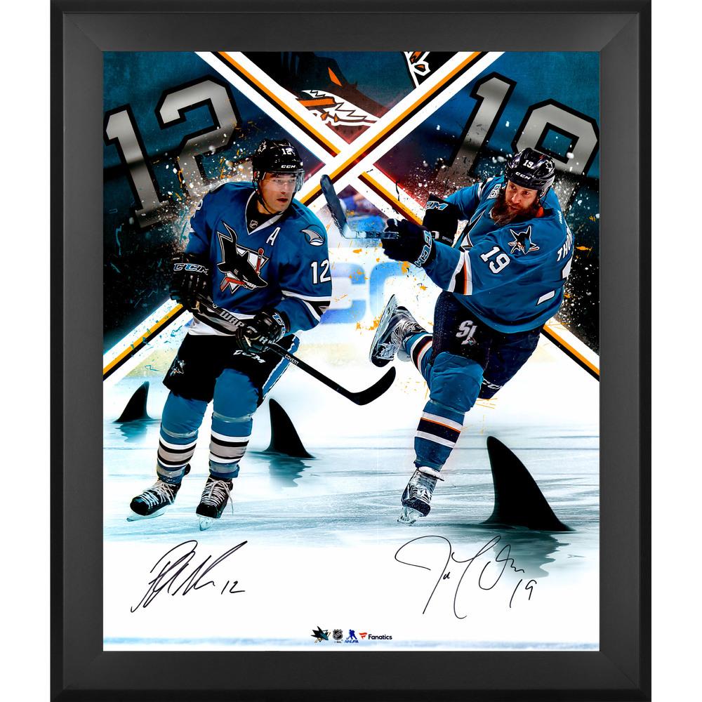 Patrick Marleau & Joe Thornton San Jose Sharks Framed Autographed 20