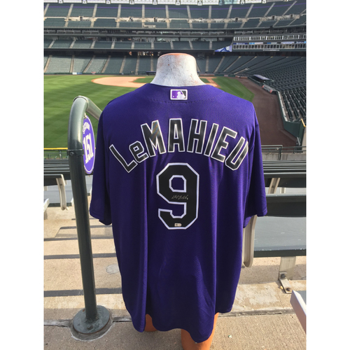 Photo of Colorado Rockies Autographed Replica Jersey - D.J. LeMahieu