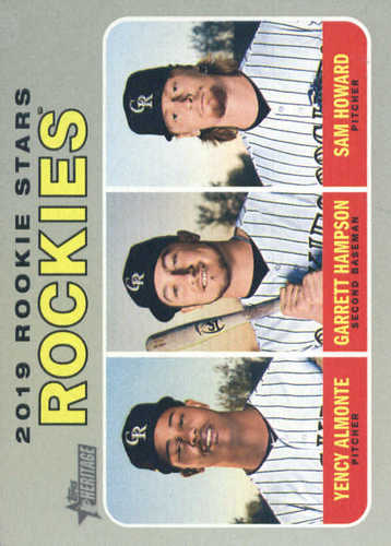 Photo of 2019 Topps Heritage #396 Garrett Hampson RC/Sam Howard RC/Yency Almonte RC