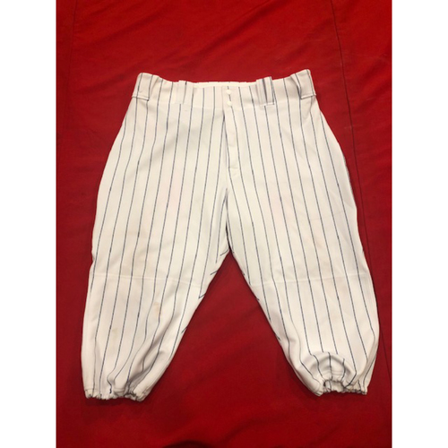 Photo of Yasiel Puig -- Game-Used Pants -- 1919 Throwback Game -- Nationals vs. Reds on June 2, 2019 --  Size: 37-42-18