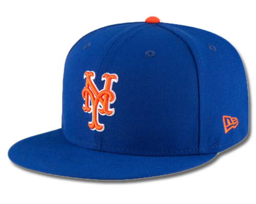 Photo of Michael Conforto #30 - Game Used Blue Alt. Home Hat - Mets vs. Braves - 9/27/19