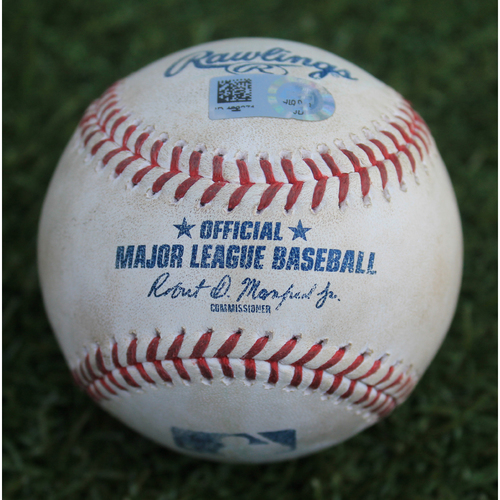 Photo of Game-Used Baseball: Ronny Rodriguez 74th Career Hit and 42nd Career RBI (DET @ KC - 6/13/19)