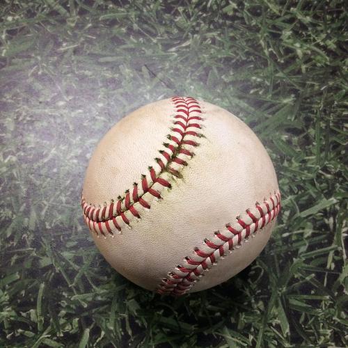 Photo of Game-Used Baseball SD@MIL 09/19/19 - Joey Lucchesi - Ryan Braun: RBI Double