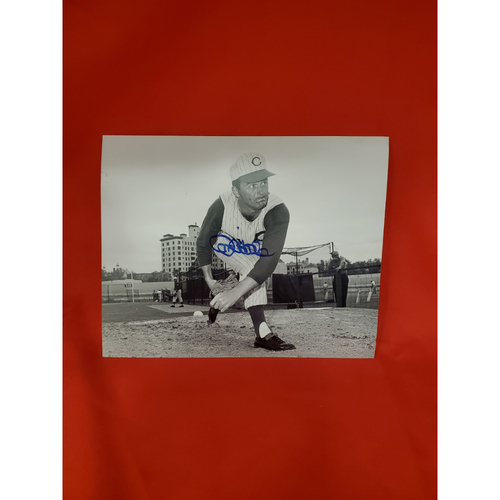 Jim O'Toole Autographed Photo (leaning after pitch)