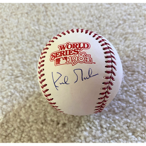 Photo of Kirk Gibson Autographed 1984 World Series Baseball (MLB AUTHENTICATED)