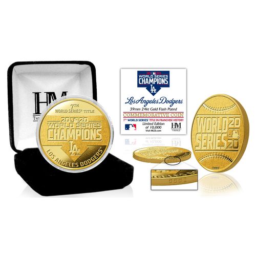 Serial #1! Los Angeles Dodgers 2020 World Series Champions Gold Mint Coin