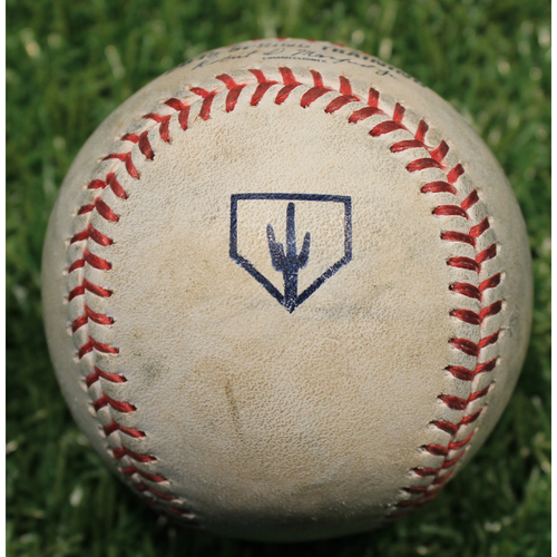 Photo of Game-Used 2019 Spring Training Baseball: Scott Barlow Strikeout (KC @ OMA 3/25/19)