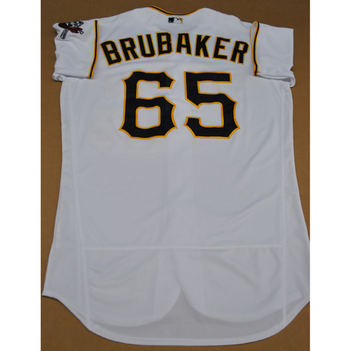 Photo of Game-Used 2020 Home Jersey - MIL at PIT - 7/27/2020 - J.T. Brubaker - Size 46T
