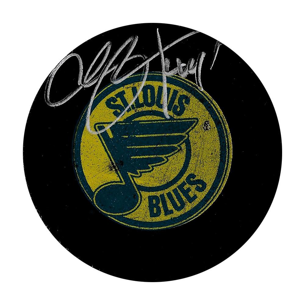Chris Pronger Autographed St. Louis Blues Vintage Puck