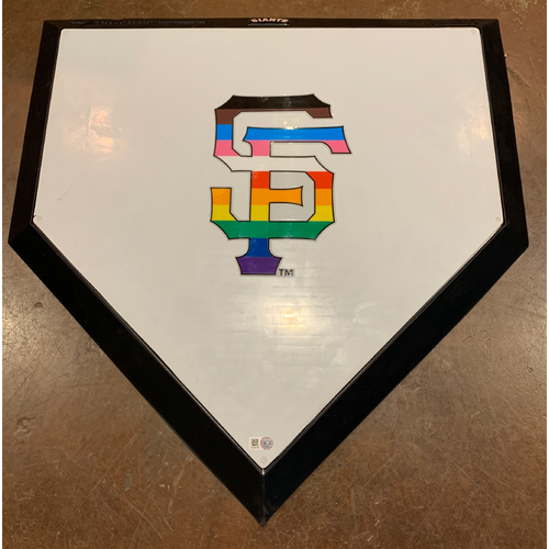 Photo of 2021 Team Issued Pride Day Ceremonial Replica Home Plate